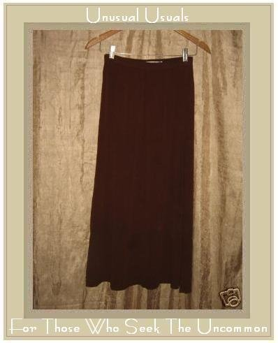 CUT LOOSE Long & Full Lightly Textured Brick Skirt Small S