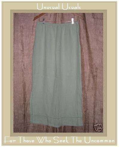 Essentials by Putumayo Long Leafy Green Skirt X-Large XL