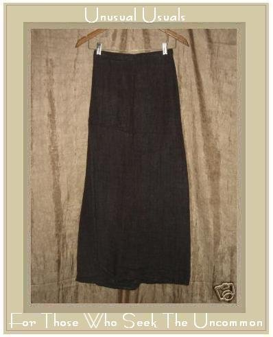Flax by Jeanne Engelhart Earthy Bark Cloth Wrap Skirt Small S