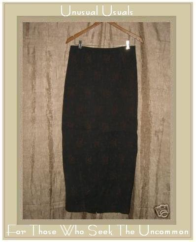CLEA Boutique Long Lined Ethereal Leaf Skirt Medium M