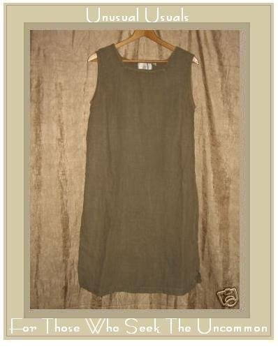 J. Jill Mushroom Gray LINEN Pullover Sheath Dress Medium M
