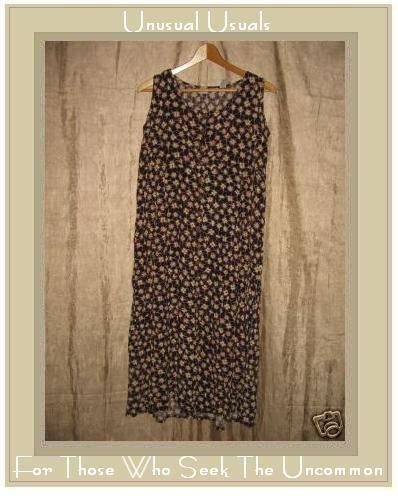 PUTUMAYO Long Brown Floral Dress X-Small XS