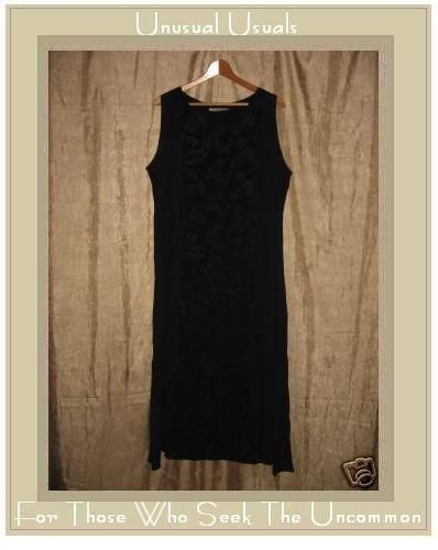 Gado - Gado Long Black Floral Dress Medium M