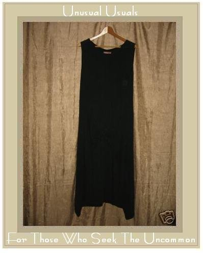 April Cornell Unusual Long Black Shapely Slip Dress X-Small XS