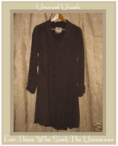 FLAX by Jeanne Engelhart Long Mushroom Shapely Dress Jacket Petite P