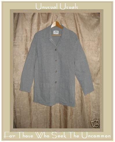 FLAX Jeanne Engelhart Cotton Lycra BLAZER Jacket SMALL S