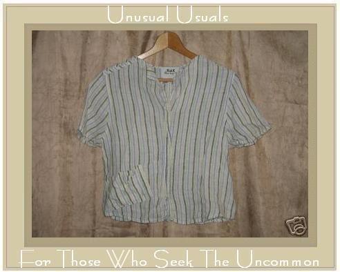 FLAX Jeanne Engelhart Linen Pullover Shirt Top Petite P