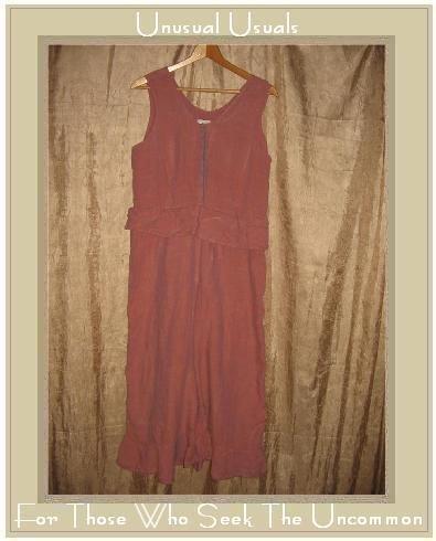 FLAX by Jeanne Engelhart Sunset LINEN Bedskirt Bloomers Peplum Overalls Pants Small S