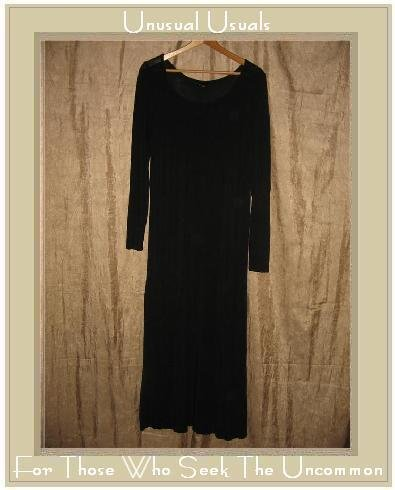 EILEEN FISHER Long Black Knit Pullover Dress Small Medium S M