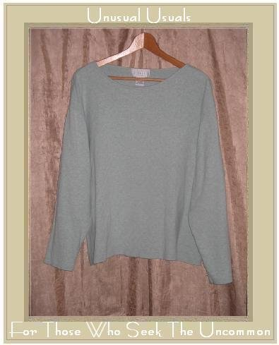 J. Jill Woman Soft Teal Cotton Knit Pullover Shirt Top 2X