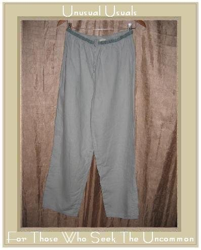 J. JILL Seafoam Linen Drawstring Pants Slacks Medium M