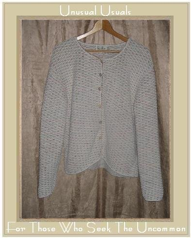 REBA ROSE Nubby Cotton Button Cardigan Shirt Top X-Large XL