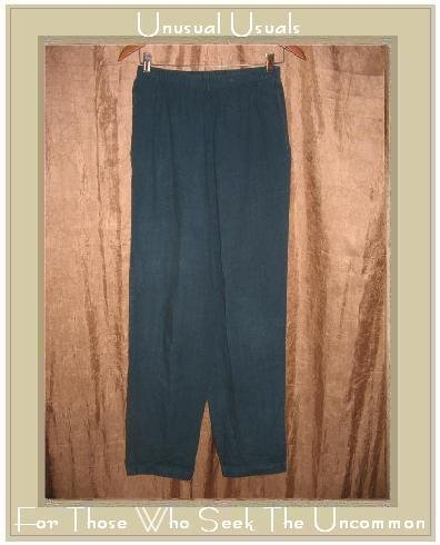 HOT COTTON Jewel Blue LINEN Pants Large L