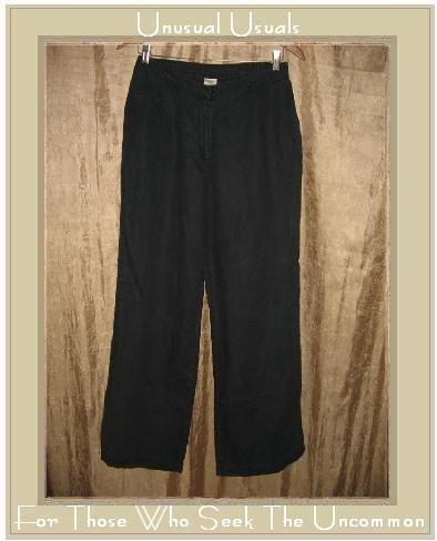 J. JILL Black Rayon Linen Pants Slacks Size 14 Large L