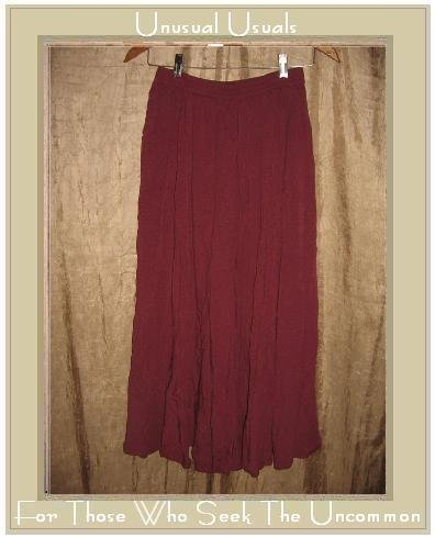 ASIACRAFT Long & Full Raspberry Rayon Skirt Medium M