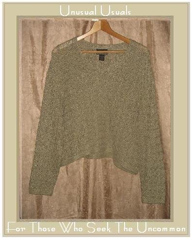 SIGRID OLSEN Soft Silk Taupe Pullover Sweater LARGE L