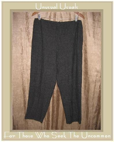 Chico's Design Gray Rayon Linen Drawstring Pants Size 2 Medium M