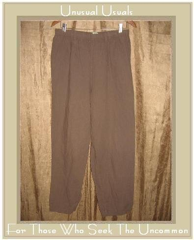 TROPISM Earthy Brown LINEN & COTTON Pants Large L