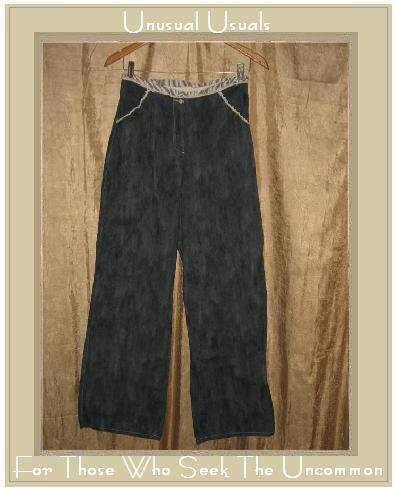 Neesh by D.A.R. Mottled Blue Cotton Wide Leg Pants Small S