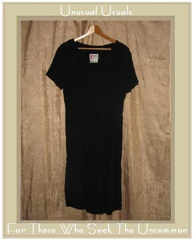 FLAX by Jeanne Engehart Black Thirties Theme Tropics Dress Small