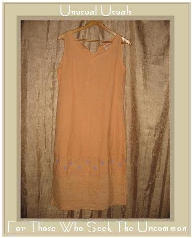 April Cornell Pudding Shop Orange Floral Pullover Dress Size 2 Medium M