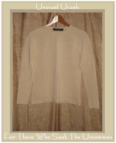 RAMSAY Dublin Textured Cream Knit Pullover Shirt Top Small S