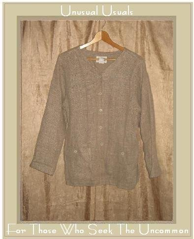 EILEEN FISHER Heavy Bark Clothe Linen Tunic Top Jacket Small S