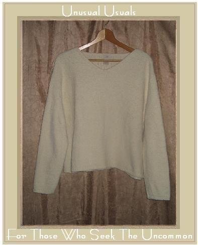J. Jill Soft White Nubby Knit Pullover Sweater Top Small S