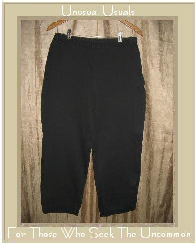 J. JILL Black Cotton Pants Slacks Size 10