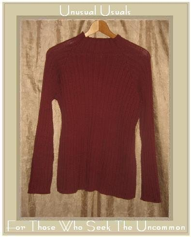 J. Jill Brick Red Cotton Knit Pullover Sweater Tunic Top Medium M