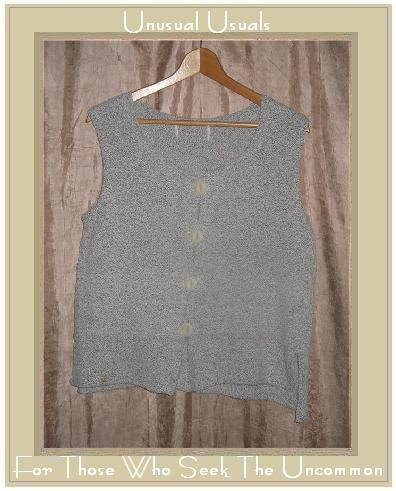 FLAX by ANGELHEART Soft Gray Sweater Jeanne Engelhart Small Medium S M
