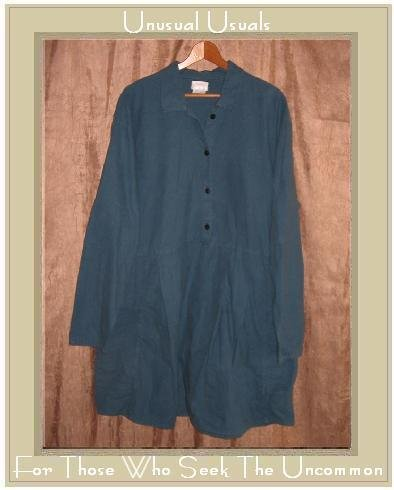 FLAX by Angelheart Skirted Flannel Tunic Dress Jeanne Engelhart Large L