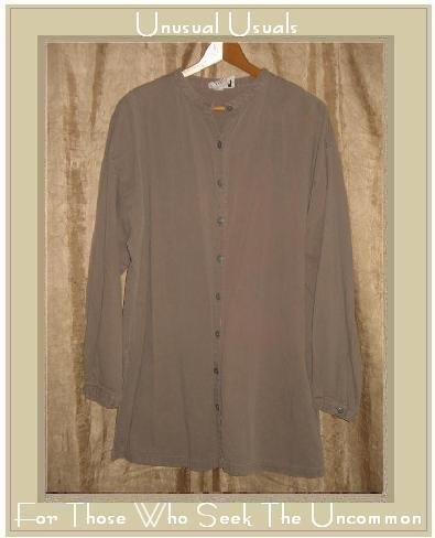 EILEEN FISHER New York Long Taupe Tunic Top Jacket Medium M