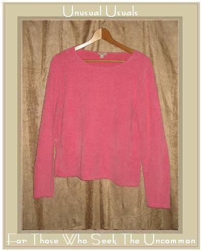 J. Jill Hot Pink Soft Chenille Knit Pullover Top Medium M