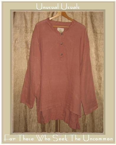 BEEKEEPER Long LINEN Tunic Top Shirt Jeanne Engelhart FLAX Large L