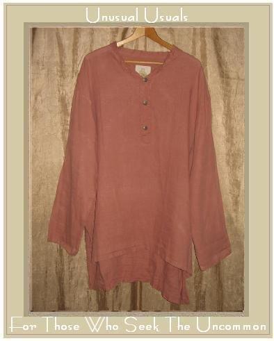 BEEKEEPER Long LINEN Tunic Top Shirt Jeanne Engelhart FLAX Large L