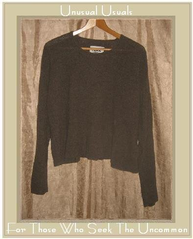 FLAX by ANGELHEART Soft Brown Cashmere Peplum Sweater Jeanne Engelhart S M