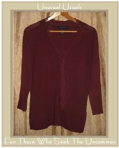 Banana Republic Silk Cashmere Ruffle Pullover Shirt Top Large L