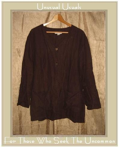 COTTON WEAR Maroon LINEN Button Jacket Tunic Top Medium M