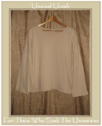PACIFIC COTTTON Cream Knit Pullover Shirt Top One Size