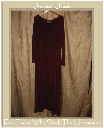 FLAX by Jeanne Engelhart Long Shapely Slinky Berry Knit Dress Large L