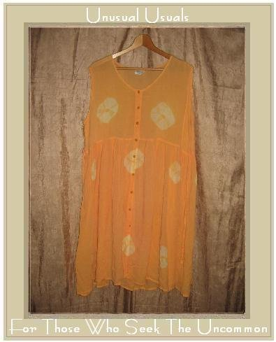 NEELAM Long Soft Orange Tie Dye Button Dress Medium M