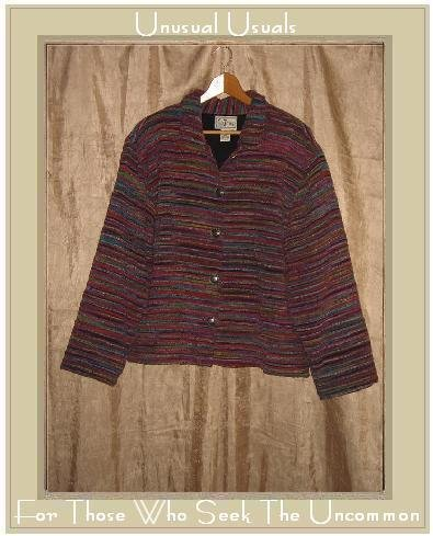 TANTRUMS Chenille Stripe Button Jacket Shirt Top Large L