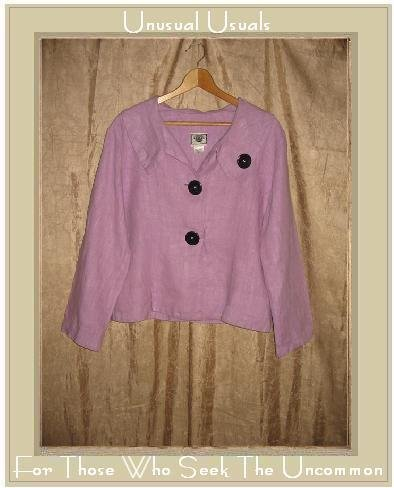 TOM TOM Shapely Purple LINEN Button Jacket Top Small S