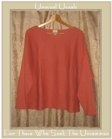 J. Jill Coral Cotton Knit Pullover Shirt Tunic Top Large L