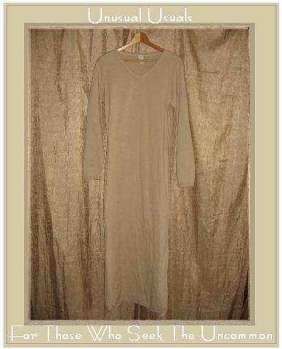 J. Jill Long Beige Knit Pullover Dress Medium Tall MT