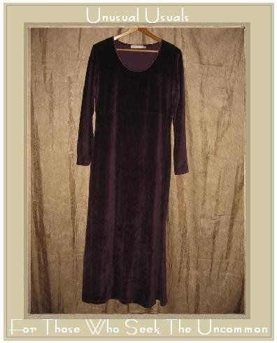 TWEEDS Long Purple Velour Pullover Tunic Dress Medium M