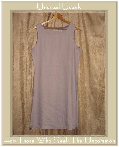 J. Jill Lilac LINEN Drawstring Pullover Sheath Dress Medium M