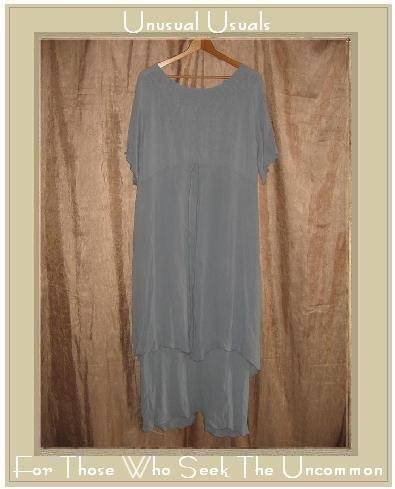 BETH SCHAEFFER Long Blue Layered Pullover Dress Medium M