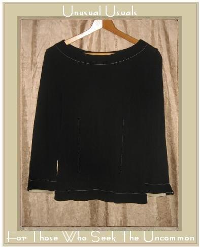 PER UNA Black Knit Pullover Shirt Tunic Top Size 10 M